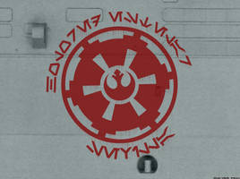 HES logo on a metal wall by Gardek