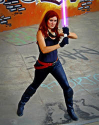 Mara Jade cosplay - Fighter by Gardek