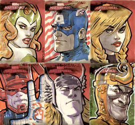 More Mavel Sketch Cards by urban-barbarian