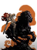 Red Sonja Rides Again by urban-barbarian