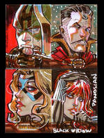 Iron Man Sketch Cards One by urban-barbarian