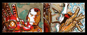 Iron Man Sketch Cards Pt Two by urban-barbarian