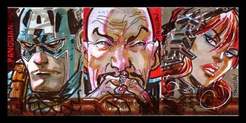 Iron Man 2 Sketch Cards Pt 3 by urban-barbarian