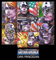 CAPTAIN AMERICA sketch cards by urban-barbarian