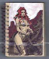 RED SONJA SKETCHBOOK by urban-barbarian