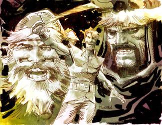 The Warriors Three by urban-barbarian