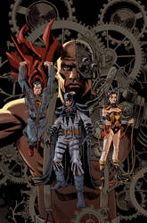 Steampunk Justice League by urban-barbarian