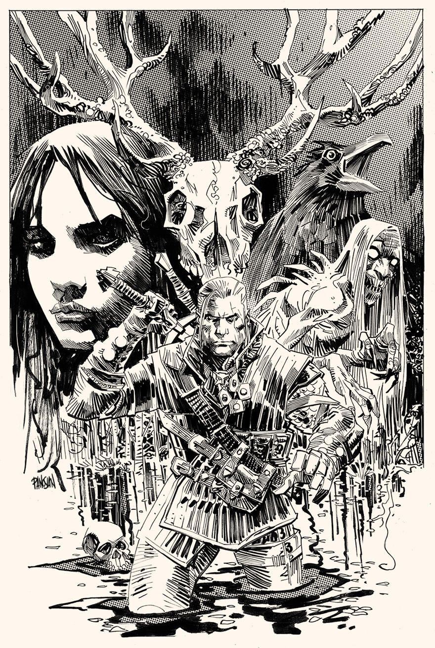 unedited b/w cover by urban-barbarian