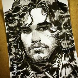 Jon Snow by urban-barbarian