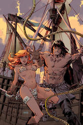 Conan and Red Sonja #2 Cover by urban-barbarian