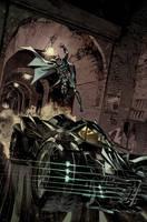Batman: Arkham Knight Batmobile Cover by urban-barbarian