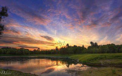 Sleepy lake by Dybcio