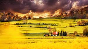 Burning sky by Dybcio