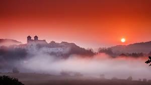 Bloody sunrise by Dybcio