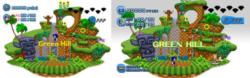 (Sonic Generations Fan Remake) COMPARING by TheValeev