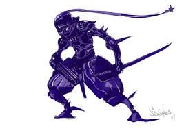 Character_concept_Robo_ninja by zombie-ninja