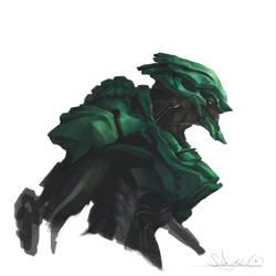 GreenEVA-likeThing by zombie-ninja