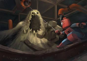 LEGO_Spiderman by zombie-ninja