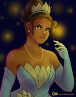 Princess Tiana: Fireflies by daisyein