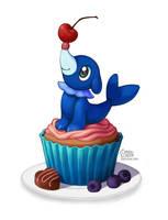 Popplio Cupcake by daisyein