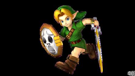 Young Link's Smash4 Menu Inspired Pose by S3BurningRose