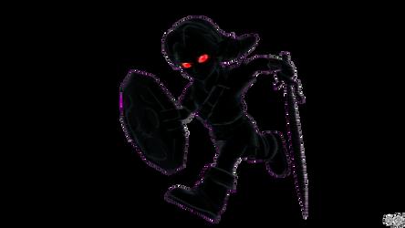 Young Link's Smash4 Menu Inspired Pose (Dark) by S3BurningRose