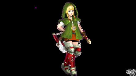Linkle's Smash4 Menu Inspired Pose by S3BurningRose