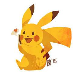 Pikachu sticker by Rosana127
