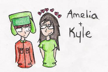 Amelia lurves Kyle by southpark903