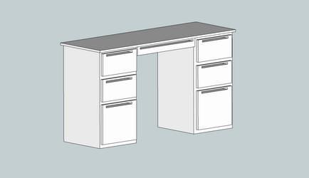 3D Office Computer Desk by BigBlue2007