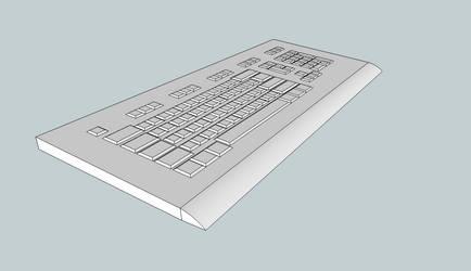 3D Computer Keyboard by BigBlue2007