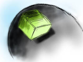 Globe and a cube by salvin18