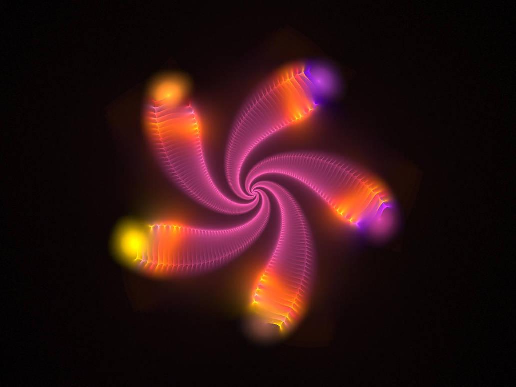 Neon Flower 1 by salvin18