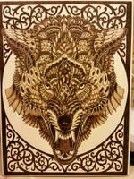 Woodburning - Skill Test - Wolf By BioWorkZ by Stepher17