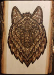 Woodburning - Ornate Wolf by Stepher17