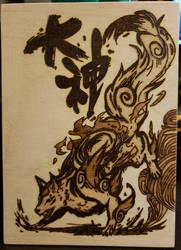 Woodburning - Okami by Stepher17