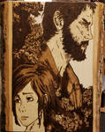 Woodburning - Last of Us - Joel and Ellie by Stepher17