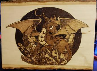 Woodburning - Spyro the Dragon by Stepher17