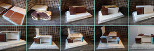 Desk Cake Stages by ginas-cakes