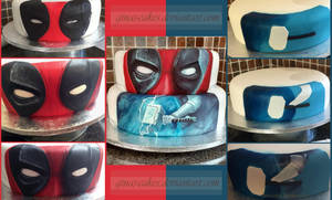 Deadpool/Thor Stages by ginas-cakes