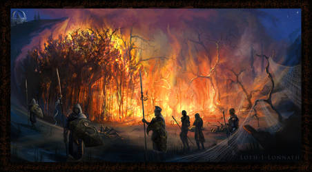 The burning of the brood by WorldOfMiddle-earth
