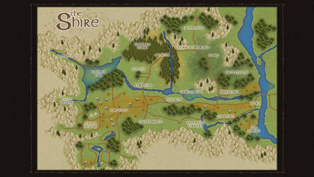 Map of the Shire by WorldOfMiddle-earth