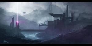 Sci-fi Landscape by Hassoomi