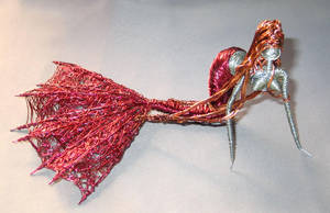 Red Mermaid Large Tail Fin by reynaldomolinawire