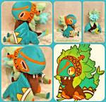 Nix the Akriri/Birdfolk Lifesize Plush by The-Plushatiers