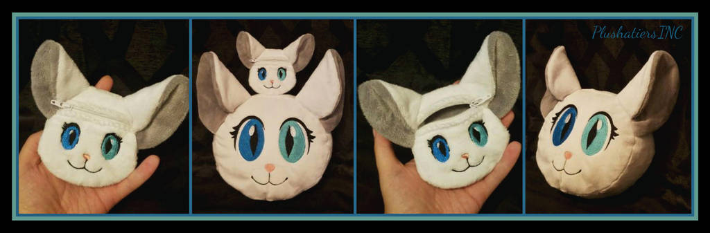 Opal Cat Coin Purse and Opal Cat Character Pillow by The-Plushatiers
