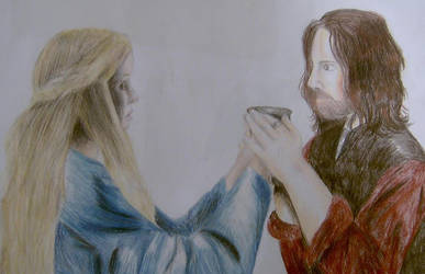 Eowyn and Aragorn by lotr-ships