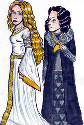 Eowyn and Grima by lotr-ships