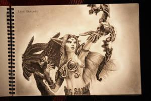 World of Warcraft - Night Elf by Lekstedt