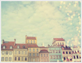 Warsaw - Houses of Old Town by Tiilii